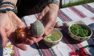 Traditional egg-dyeing