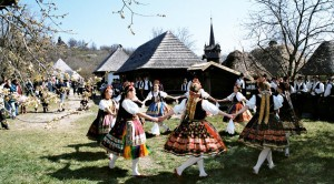Folk dancing at museum