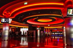 Cinema in shopping mall