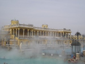 The Széchenyi baths in winter