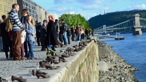 The Shoes - commemorating the Jews shot into the river.