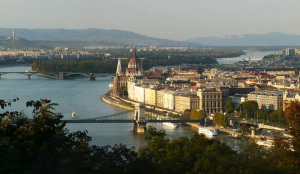 View of the Danube over to Pest