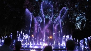 Musical fountain by night
