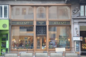 Auguszt café in central Budapest