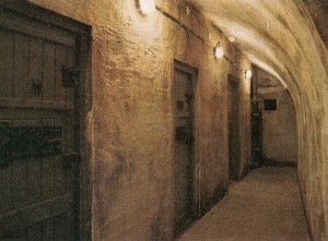 The cells in the dungeon.
