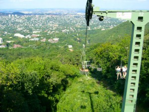 Chairlift in the Buda hills.