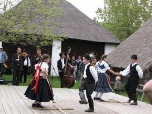 Folk dancing at the open-air museum at Szentendre.