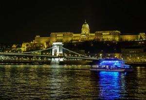 Night cruise on the Danube