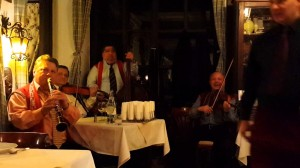 Gypsy musicians in a restaurant